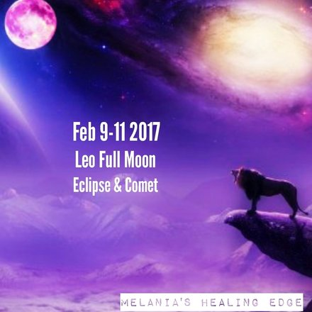 Leo full moon eclipse and comet Melania's Healing Edge