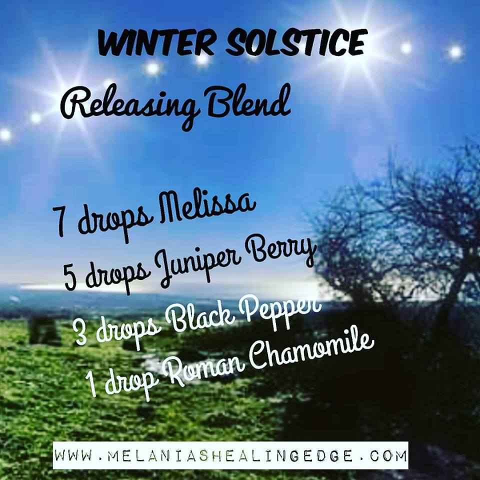 Melania's Healing Edge winter solstice essential oil blend
